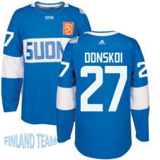 Finland Team 2016 World Cup of Hockey #27 Joonas Donskoi Blue Premier Jersey