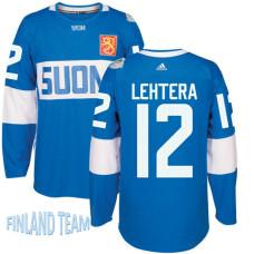 Finland Team 2016 World Cup of Hockey #12 Jori Lehtera Blue Premier Jersey