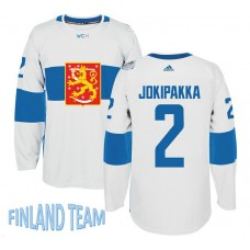 Finland Team 2016 World Cup of Hockey #2 Jyrki Jokipakka White Premier Jersey