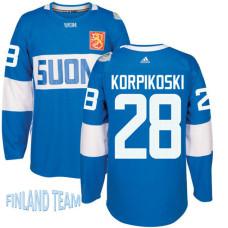 Finland Team 2016 World Cup of Hockey #28 Lauri Korpikoski Blue Premier Jersey