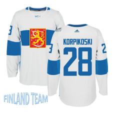 Finland Team 2016 World Cup of Hockey #28 Lauri Korpikoski White Premier Jersey