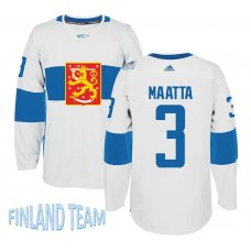 Finland Team 2016 World Cup of Hockey #3 Olli Maatta White Premier Jersey