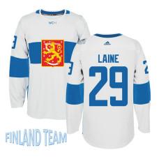 Finland Team 2016 World Cup of Hockey #29 Patrik Laine White Premier Jersey
