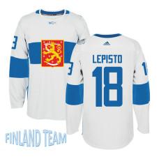 Finland Team 2016 World Cup of Hockey #18 Sami Lepisto White Premier Jersey
