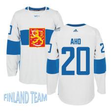 Finland Team 2016 World Cup of Hockey #20 Sebastian Aho White Premier Jersey