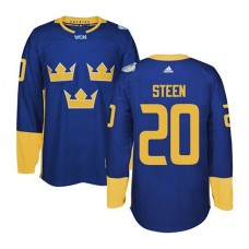2016 World Cup of Hockey Sweden Team #20 Alexander Steen Blue Premier Jersey