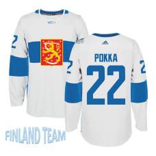 Finland Team 2016 World Cup of Hockey #22 Ville Pokka White Premier Jersey