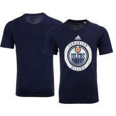 2017 Edmonton Oilers Navy Ultimate Adidas Team Practice T-shirt