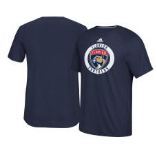 2017 Florida Panthers Navy Ultimate Adidas Team Practice T-shirt