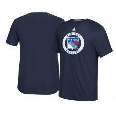 2017 New York Rangers Navy Ultimate Adidas Team Practice T-shirt