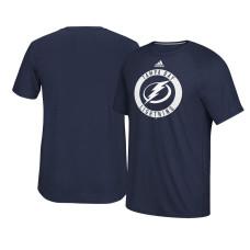 2017 Tampa Bay Lightning Navy Ultimate Adidas Team Practice T-shirt