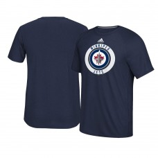 2017 Winnipeg Jets Navy Ultimate Adidas Team Practice T-shirt