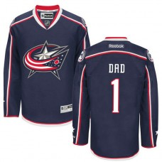 Columbus Blue Jackets Navy Number One Dad Jersey