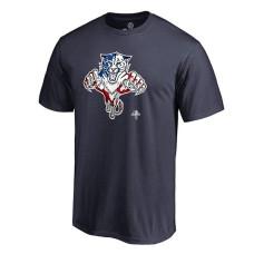Florida Panthers Navy Banner Wave T-Shirt