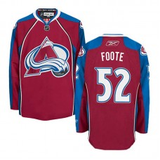 Colorado Avalanche Adam Foote #52 Burgundy Red Home Jersey
