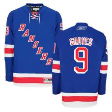 New York Rangers Adam Graves #9 Royal Blue Home Jersey
