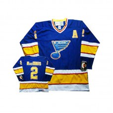 St. Louis Blues Al Macinnis #2 Blue Throwback Jersey