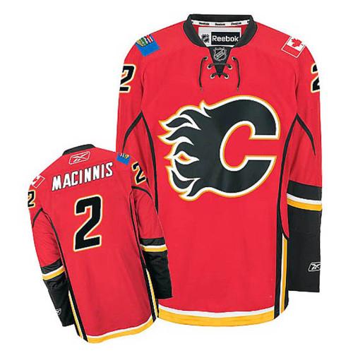 Calgary Flames Al MacInnis #2 Red Home Jersey