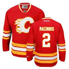 Calgary Flames Al MacInnis #2 Red Alternate Jersey