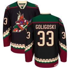 Coyotes #33 Alex Goligoski Black 2016-2017 Season Throwback Premier Jersey