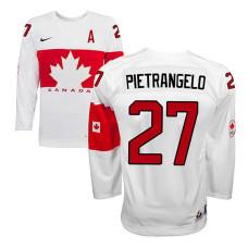 Canada Team Alex Pietrangelo #27 White Home Premier Olympic Jersey