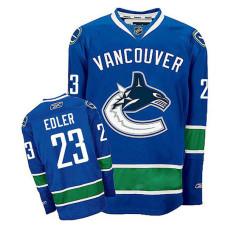Vancouver Canucks Alexander Edler #23 Navy Blue Home Jersey