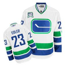 Vancouver Canucks Alexander Edler #23 White 40th Anniversary Alternate Jersey