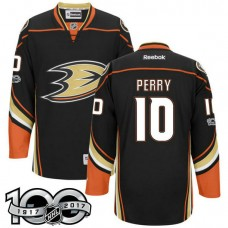 a280c8a5c Anaheim Ducks  10 Corey Perry Black 2017 Anniversary Patch Player Jersey