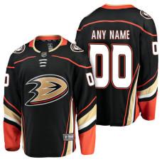 Anaheim Ducks 2018 Fanatics Branded Custom Jersey Black