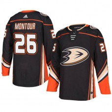 Anaheim Ducks #26 Black Authentic Home Brandon Montour Jersey