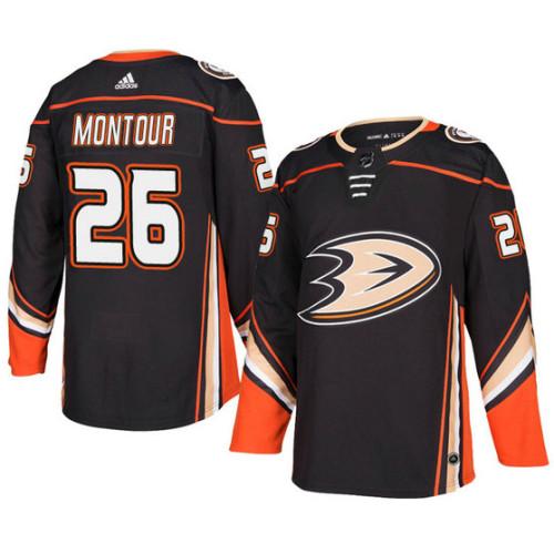 Anaheim Ducks  26 Black Authentic Home Brandon Montour Jersey 5b42de010