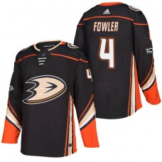 Anaheim Ducks #4 Cam Fowler Black 2018 New Season Home Authentic Jersey With Anniversary Patch