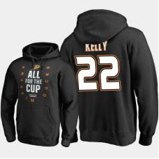 Anaheim Ducks #22 Chris Kelly Pullover Black Hoodie 2018 Stanley Cup Playoffs