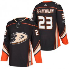 Anaheim Ducks #23 Francois Beauchemin Black 2018 New Season Player Home Jersey