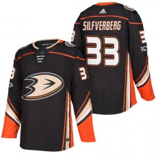 Anaheim Ducks #33 Jakob Silfverberg Black 2018 New Season Home Authentic Jersey With Anniversary Patch