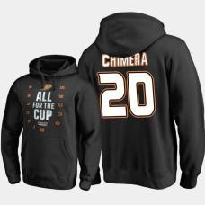 Anaheim Ducks #20 Jason Chimera Pullover Black Hoodie 2018 Stanley Cup Playoffs