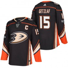 Anaheim Ducks #15 Ryan Getzlaf Black 2018 New Season Home Authentic Jersey With Anniversary Patch