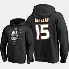 Anaheim Ducks #15 Ryan Getzlaf Pullover Black Hoodie 2018 Stanley Cup Playoffs