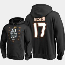 Anaheim Ducks #17 Ryan Kesler Pullover Black Hoodie 2018 Stanley Cup Playoffs