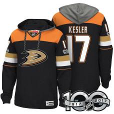 Anaheim Ducks #17 Ryan Kesler Black Anniversary Classic Patch Hoodie