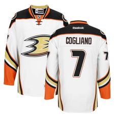 Anaheim Ducks Andrew Cogliano #7 White Away Jersey