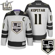 #11 Los Angeles Kings Anze Kopitar Gray 50th Anniversary Jersey