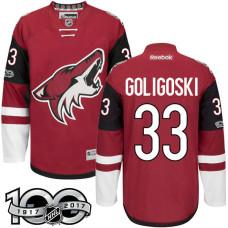 Arizona Coyotes #33 Alex Goligoski Red 2017 Anniversary Patch Player Jersey