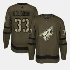 Arizona Coyotes #33 Camo Salute To Service Alex Goligoski Jersey