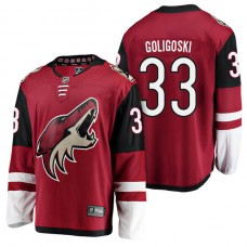 Arizona Coyotes #33 Breakaway Player Alex Goligoski Jersey Maroon