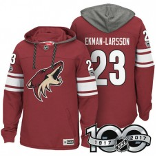 Arizona Coyotes #23 Oliver Ekman-Larsson Maroon Anniversary Classic Patch Hoodie