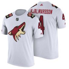 Arizona Coyotes #4 Niklas Hjalmarsson White Adidas Player Jersey Style T-shirt