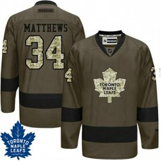 Auston Matthews #34 Toronto Maple Leafs Green Camo Player Jersey