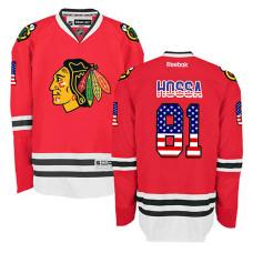 Chicago Blackhawks Marian Hossa #81 Red USA Flag Fashion Jersey