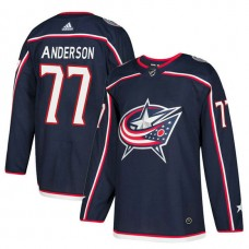 Columbus Blue Jackets #77 Josh Anderson Navy Home Jersey